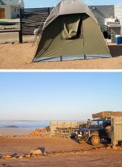 Camping in Namibia bei Cape Cross Lodge & Campingplatz